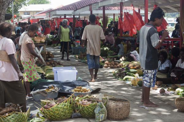 Picture of The vegetable market of GizoGizo - Solomon Islands