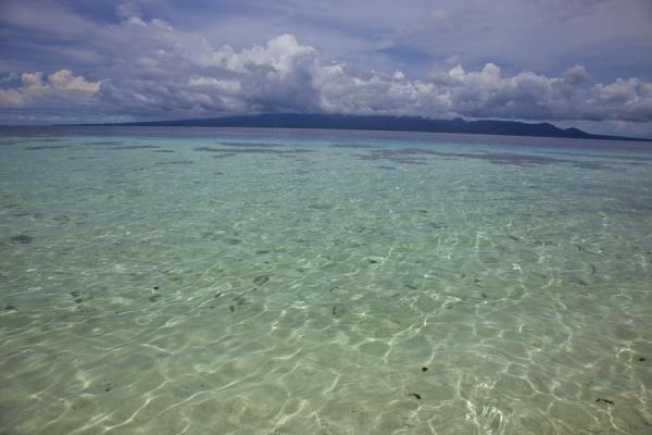 Picture of Kolombangara climb (Solomon Islands): Turquoise waters topped by Kolombangara covered by clouds