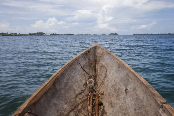 Picture of Looking over Langa Langa lagoon from inside the dugout canoeTalakali - Solomon Islands