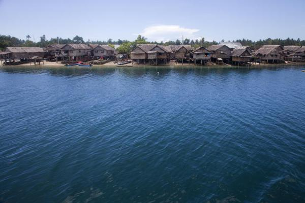 Frontal view of the village of Lilisiana | Lilisiana | Solomon Islands