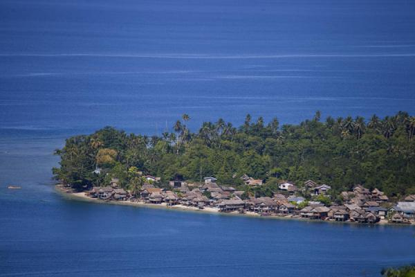 Distant view of the village of Lilisiana | Lilisiana | Solomon Islands
