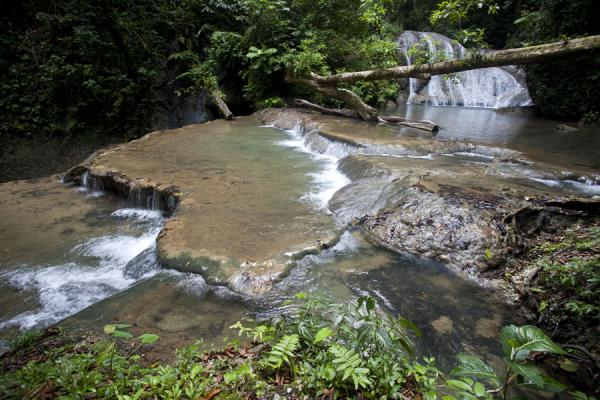 Picture of The pretty view of Mataniko falls with pools
