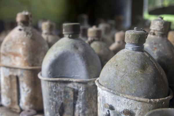 Picture of Peter Joseph WW II museum (Solomon Islands): Drinking bottles used by the US army in World War II