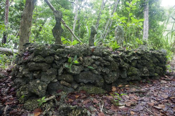 Picture of Skull island (Solomon Islands): Platform on Skull Island where fishermen used to ask for a good catch before sailing