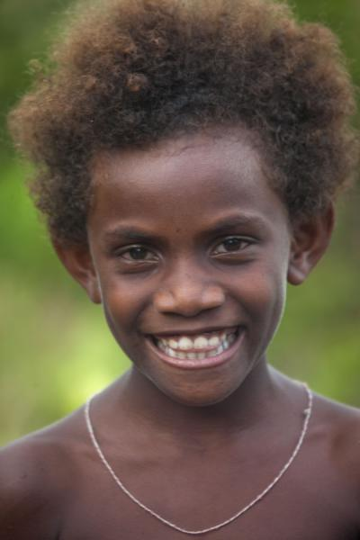 Picture of One of the kids jumping in front of my camera in LilisianaSolomon Islands - Solomon Islands