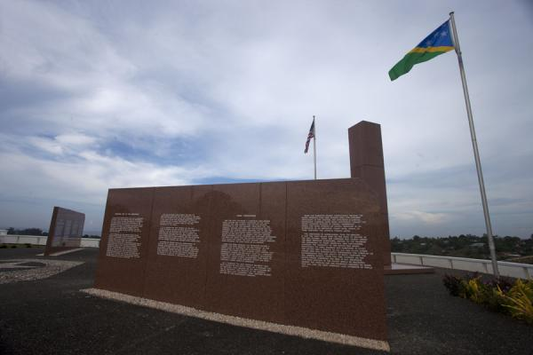 Foto di One of the slabs of marble recounting the battles of the Guadalcanal campaignHoniara - Isole Salomone