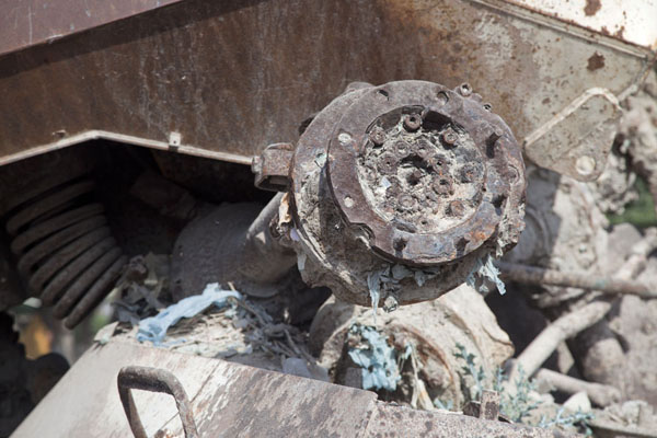 Picture of Black Hawk Down site (Somalia): Detail of a part of one of the armoured personnel carriers