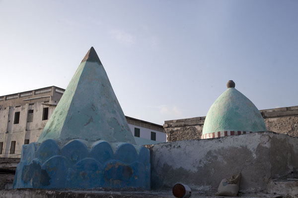 The iconic hexagonal and round cone, painted green, on top of Fakr ad-Din mosque | Fakr ad-Din mosque | Somalia