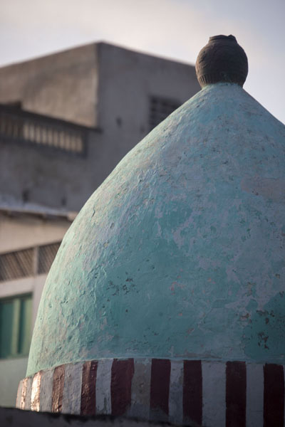 Picture of Part of the round cone on the roof of Fakr ad-Din mosque