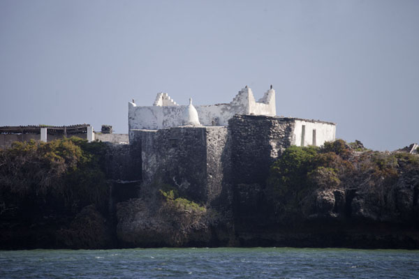 Picture of The old mosque on the islet just off the beach of JazeeraJazeera - Somalia