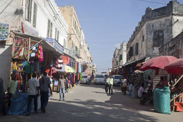 Picture of Market stalls on a busy street in Mogadishu - Somalia - Africa