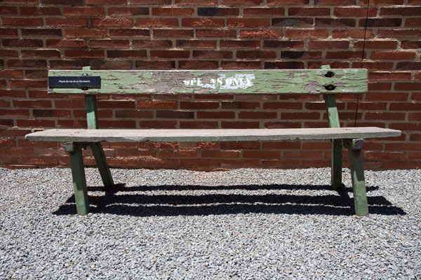 Picture of During the apartheid years, only Europeans were allowed to sit on this bench