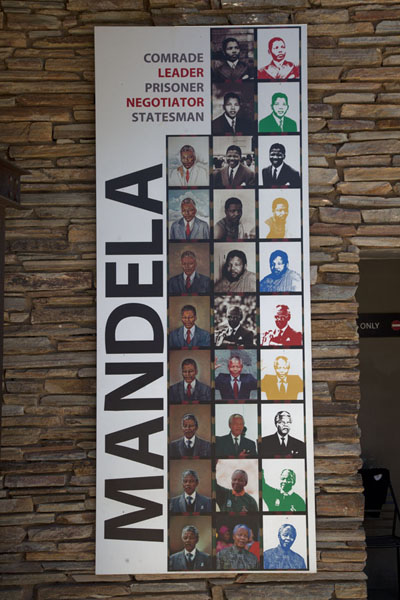 Throughout the museum, and outside, Mandela is a recurrent person | Apartheid Museum | South Africa