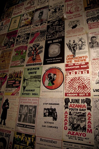 Wall with political pamphlets in the Apartheid Museum | Apartheid Museum | South Africa