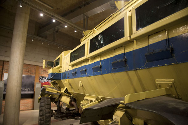 Casspir, armoured vehicle used during the violent apartheid years, on display | Apartheid Museum | South Africa
