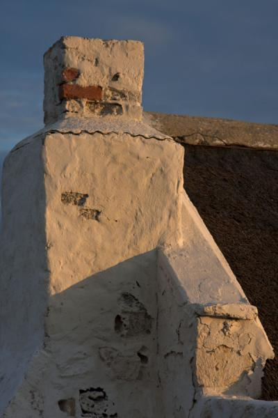 Close-up of chimney on a traditional house at Arniston | Arniston | South Africa