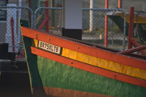 Close-up of colourful boat docked in Arniston | Arniston | South Africa