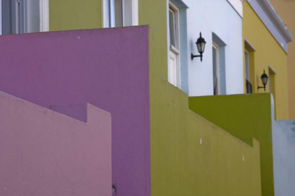 Detail of pastel coloured houses in Bo-Kaap | Bo-Kaap | South Africa