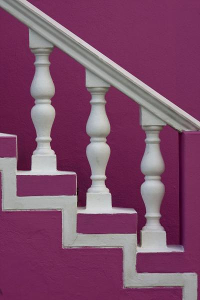 Picture of Detail of purple house in Bo-Kaap