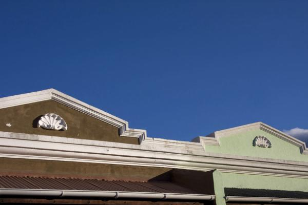 Gable with simple decoration in Bo-Kaap | Bo-Kaap | South Africa
