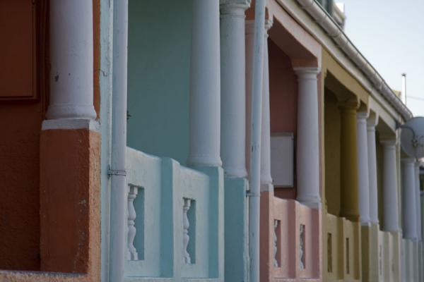 Bright colours and columns in Bo-Kaap | Bo-Kaap | South Africa