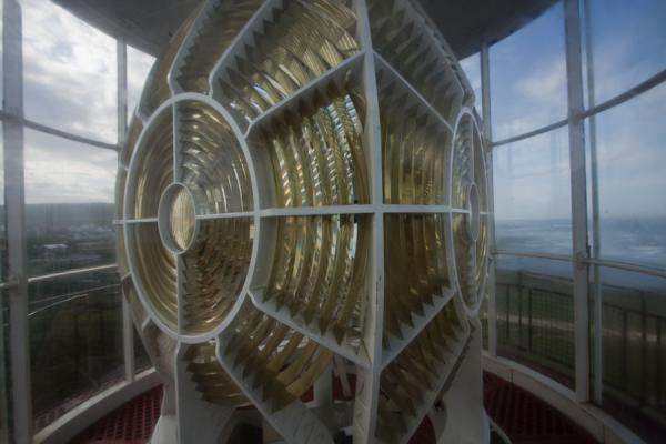 Picture of Looking at the light in the lighthouse at Cape Agulhas