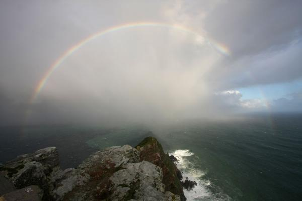 Foto van Rainbow seen from Cape Point - Zuid Afrika - Afrika