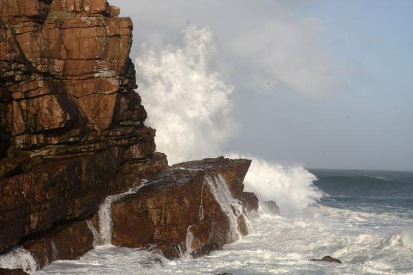 南非 (Waves hammering the rocky coast at Cape of Good Hope)
