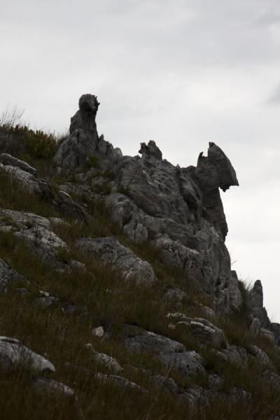 Rock formations on a mountain in Hottentots Holland reserve | Hottentots Holland Nature Reserve | South Africa
