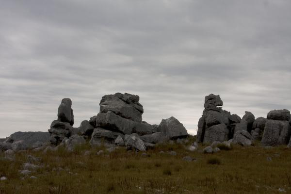 Picture of Rock formation under a grey sky in Hottentots Holland reserve