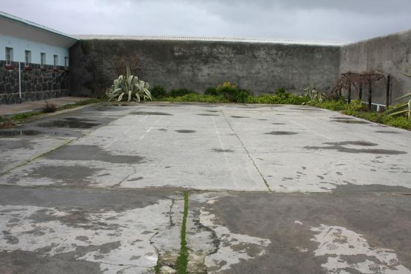 The courtyard outside the prison block in which Mandela lived | Robben Island | South Africa