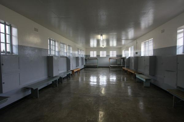 One of the prison cells accomodating several prisoners | Robben Island | South Africa