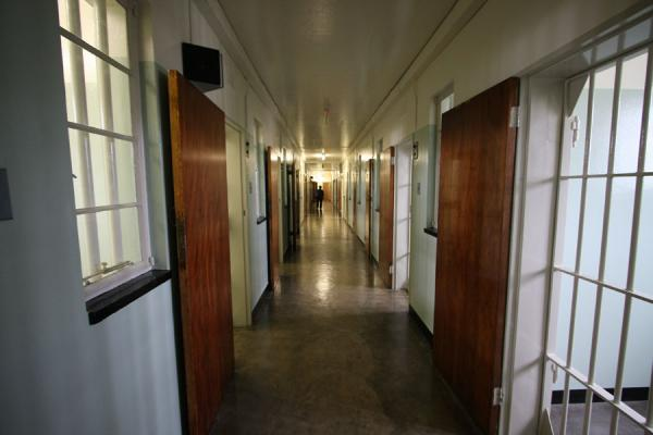 Inside of Robben Island prison, close to the cell where Mandela lived | Robben Island | South Africa