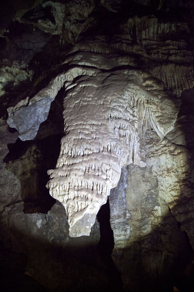 The elephant-shaped formation in the caves | Sterkfontein Caves | South Africa