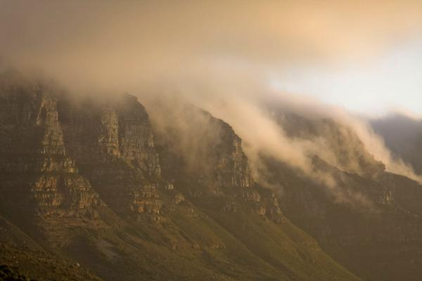 Picture of Table Mountain (South Africa): Late afternoon light over Table Mountain