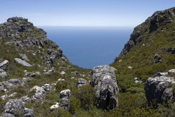 View towards Table Bay from the top of the Platteklip Gorge | Tafelberg | Zuid Afrika