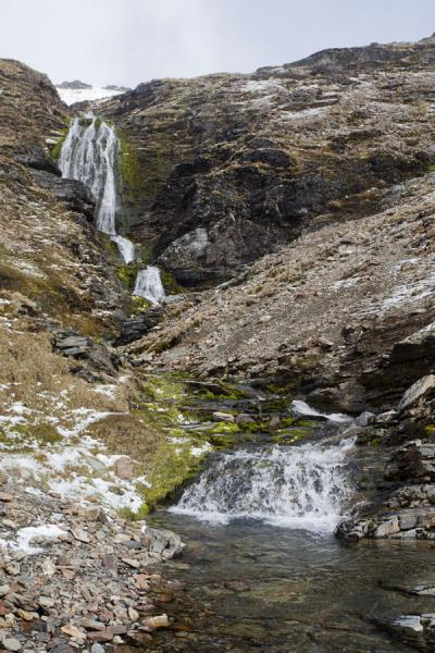 Shackleton waterfall between Fortuna Bay and Stromness | Fortuna to Stromness hike | South Georgia and South Sandwich Islands