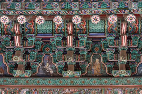 Picture of Bulguksa (South Korea): Fine painting of roof at Bulguksa in detail