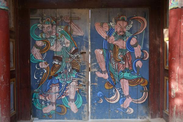 Picture of Bulguksa (South Korea): Painted doors at Bulguksa