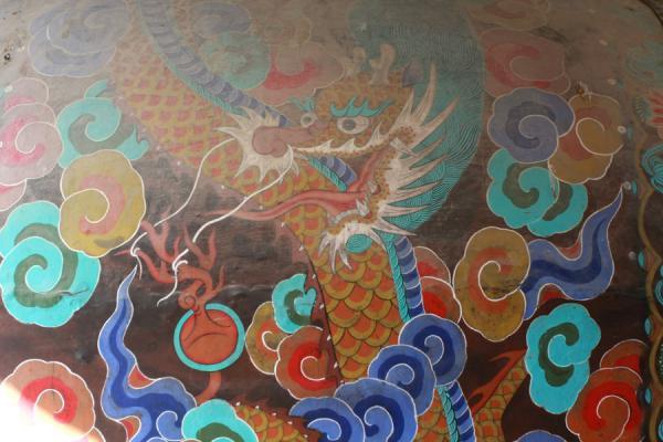 Picture of Bulguksa (South Korea): Dragon painted on wooden drum at Bulguksa