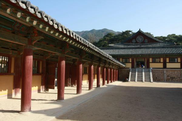 Picture of Bulguksa (South Korea): Temple, courtyard and columns at Bulguksa