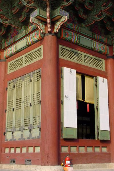 Corner of one of the buildings | Gyeongbokgung Palace | South Korea