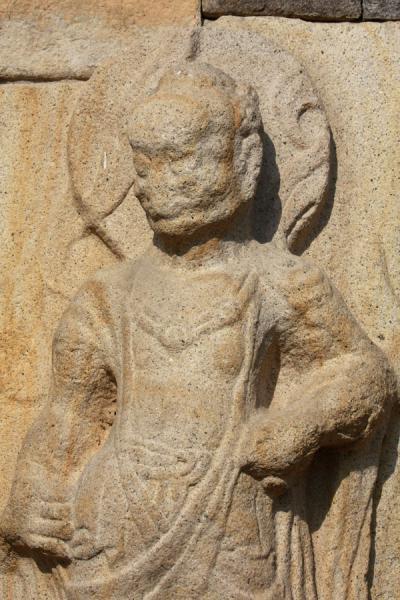 Picture of Gyeongju (South Korea): Stone guard at Bunhwangsa temple