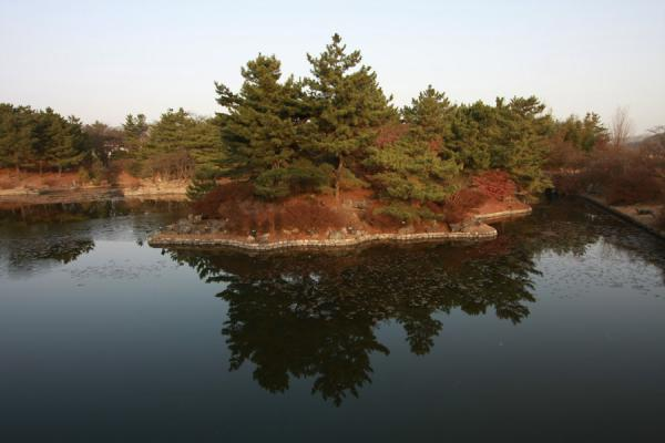 Picture of Gyeongju (South Korea): Anapji Pond at the end of the day