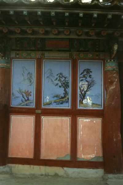 One of the decorated wooden doors | Haeinsa Temple | South Korea