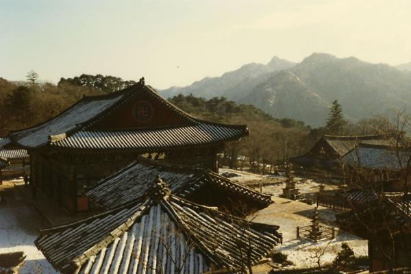 Temple complex in the mountains | Haeinsa Temple | South Korea