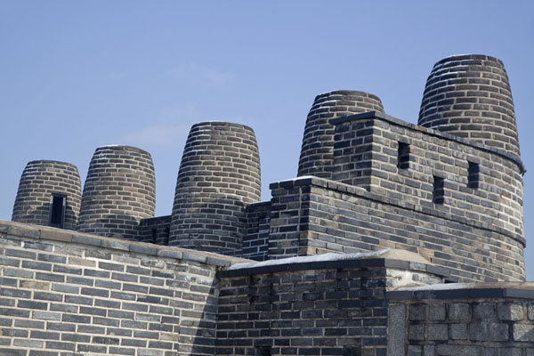 Picture of Hwaseong fortress (South Korea): The peculiarly shaped Bongdon Beacon Mound