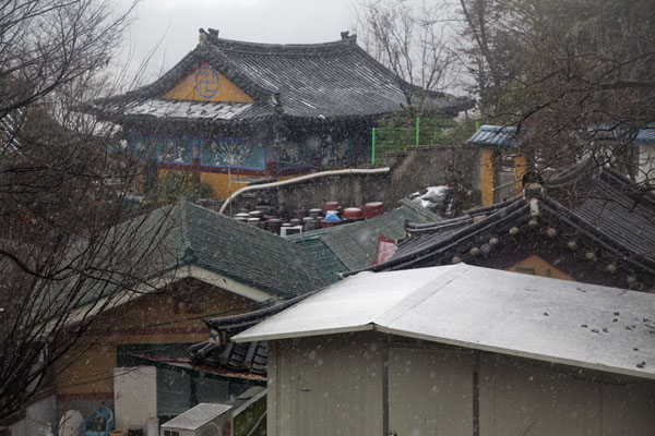 Picture of Inwangsan (South Korea): Some of the small temples on Inwangsan