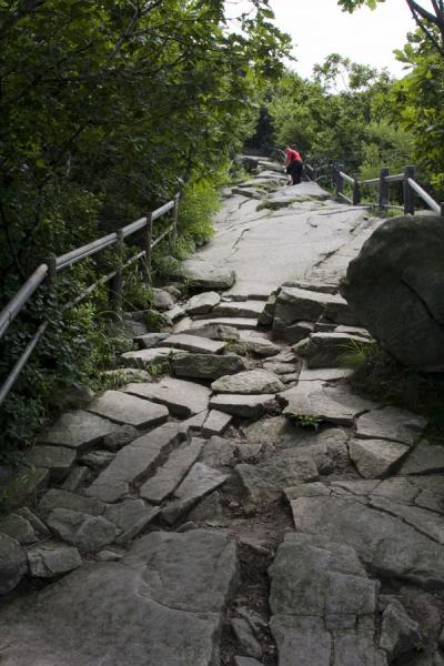 Picture of Manisan mountain (South Korea): Hiking up Manisan over a rocky path