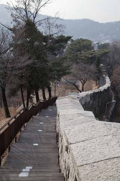 The western part of the Mount Bugaksan City Wall | Mount Bugaksan City Wall | South Korea